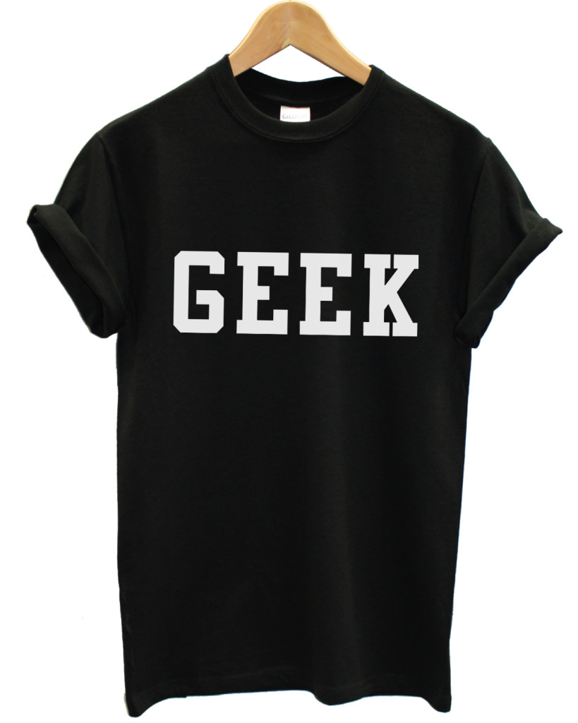 Geek black t shirt