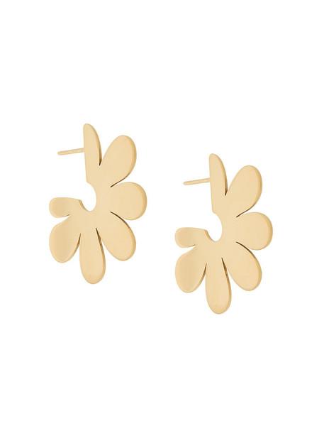 Simone Rocha women earrings hoop earrings gold grey metallic jewels