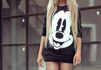 sweater mickey mouse little black dress pullover mouse mickey mouse disney disneyworld