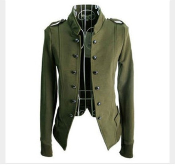 Military Style Coat Buttons - Sm Coats