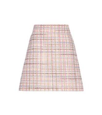 miniskirt mohair wool pink skirt