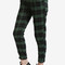 Casual check trouser pant - green – echo club house