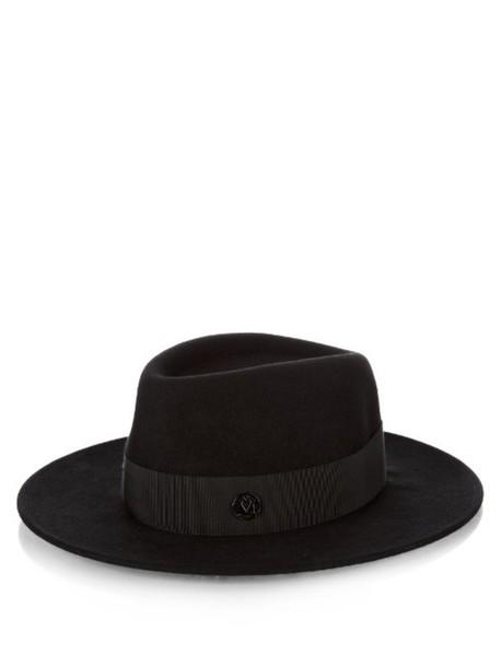 MAISON MICHEL Thadee showerproof fur-felt hat in black