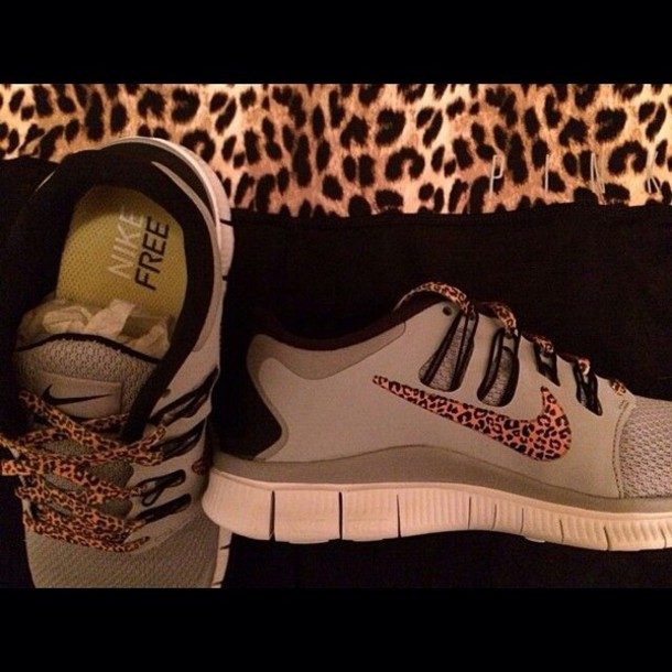 shoes nike free runs cheetah leopard print nike running
