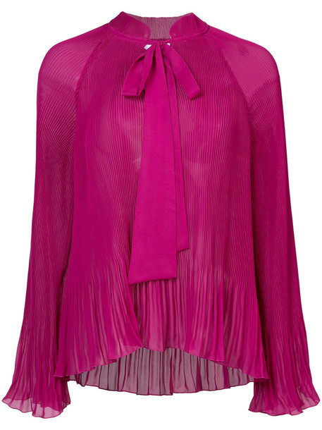 DEREK LAM 10 CROSBY pleated long women scarf purple pink