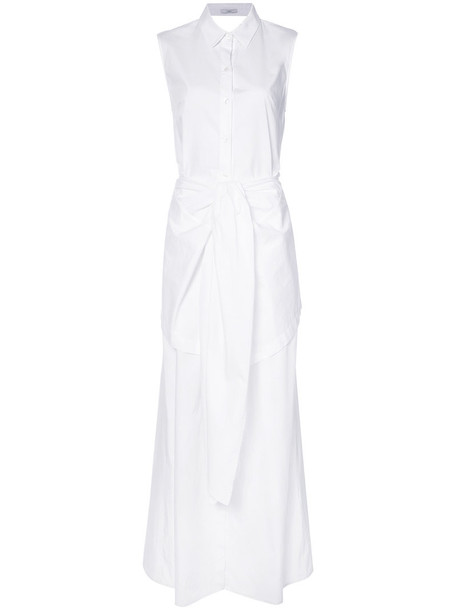 Tome dress shirt dress maxi women white cotton