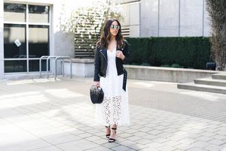 crystalin marie blogger dress jacket shoes bag sunglasses
