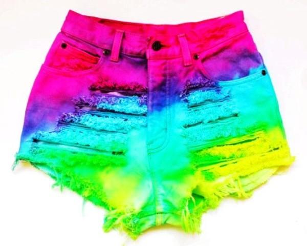 shorts neon shorts colorful shorts