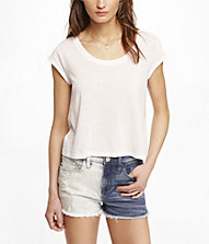 CROPPED JERSEY TEE | Express