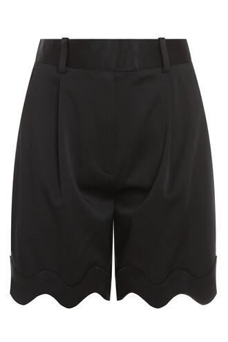 bermuda short satin black shorts