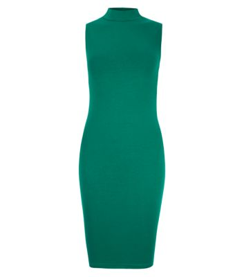 Jade high neck sleeveless bodycon dress