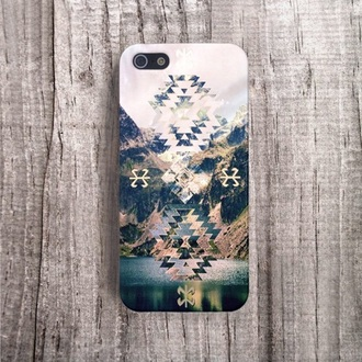 phone case triangle hipster technology hipster wishlist aztec phone case iphone case white green accessories jewels cute style