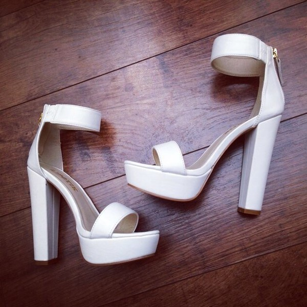 shoes heels white heels color pumps wedges sexy platform shoes platform shoes chunky heels