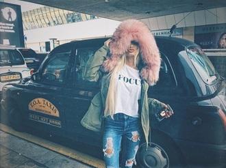 coat pink winter coat pia mia perez fur faux fur faux fur jacket