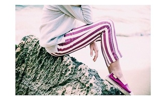 white lovely pepa jeans red stripes