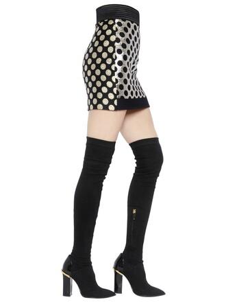 skirt mini skirt mini jacquard gold black