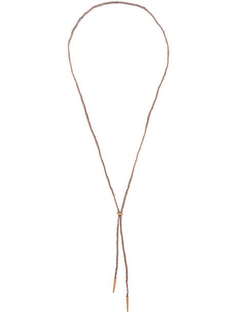 rose gold rose women necklace gold silk grey metallic jewels