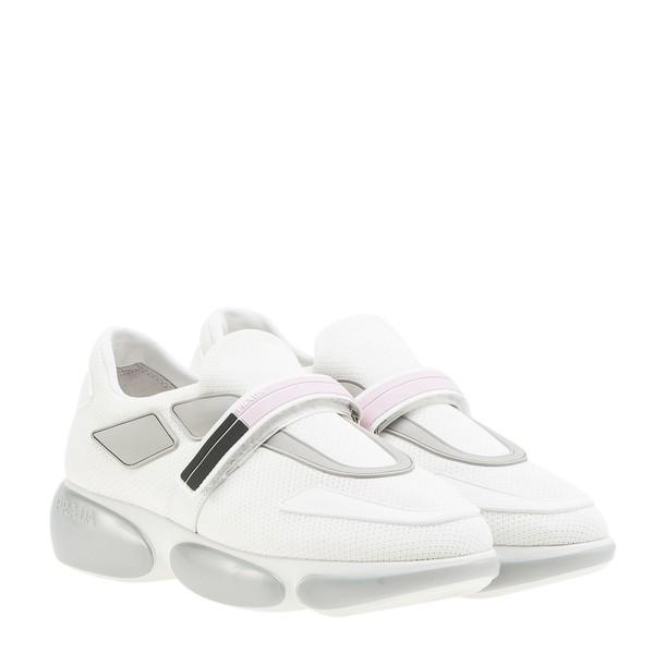 Prada Linea Rossa sneakers silver white shoes