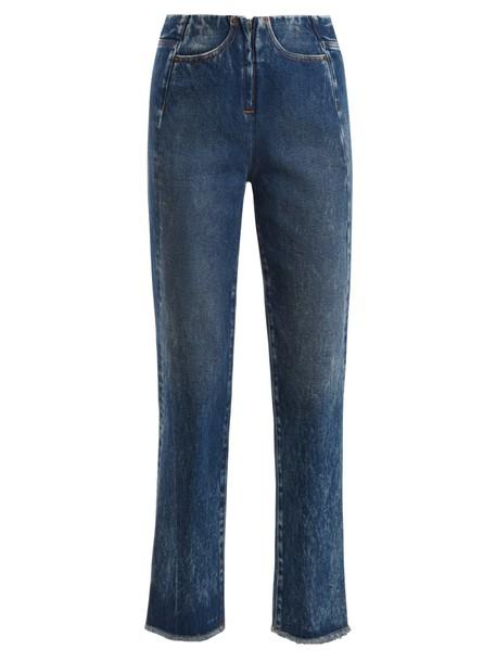 Mm6 Maison Margiela jeans high blue