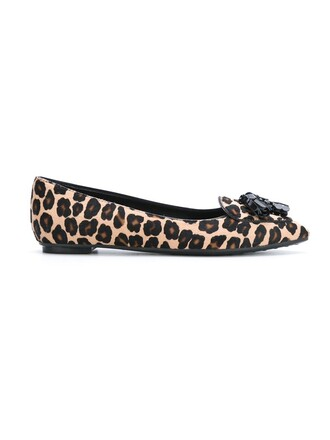 women leather print black leopard print shoes