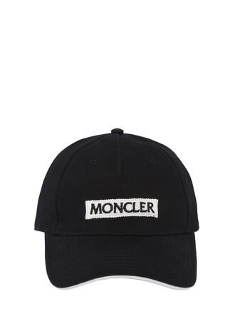 embroidered hat black