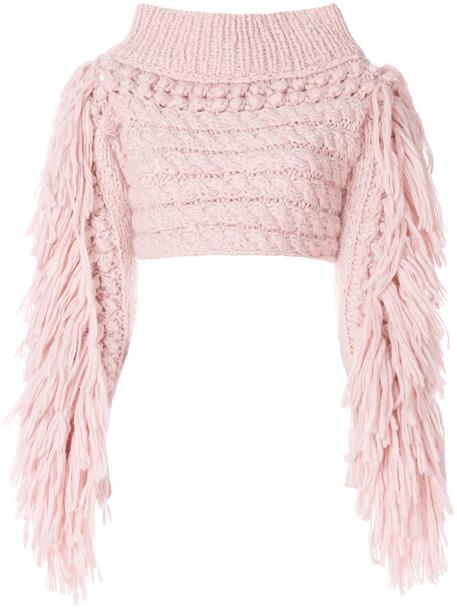 sweater cropped sweater cropped women nude wool