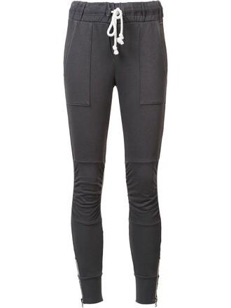 sweatpants women classic cotton grey pants