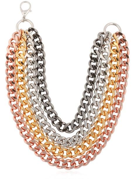 GIUSEPPE ZANOTTI DESIGN Rebel Angel Multi Chain Necklace in gold / silver