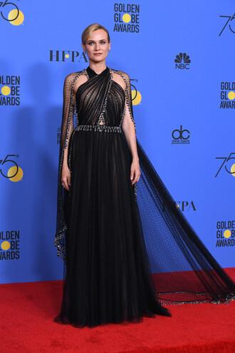 dress gown prom dress red carpet dress diane kruger golden globes 2018 long dress