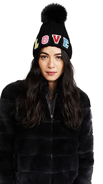 Jocelyn fur love hat black
