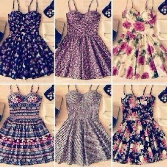 dress floral dress flowers fashion cute dress tumblr outfit tumblr dress skater dress
