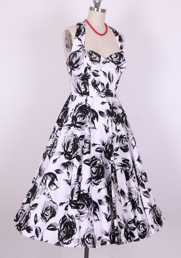 fashion drss floral dress vintage style vintage 50s style party dress prom dress vintage dress floral clothes retro clohes