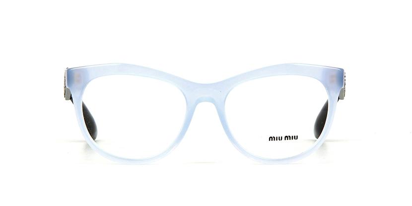 7cd3ed5f55cc Miu Miu MU 08NV TKV1O1 Opal Azure Glasses | Pretavoir
