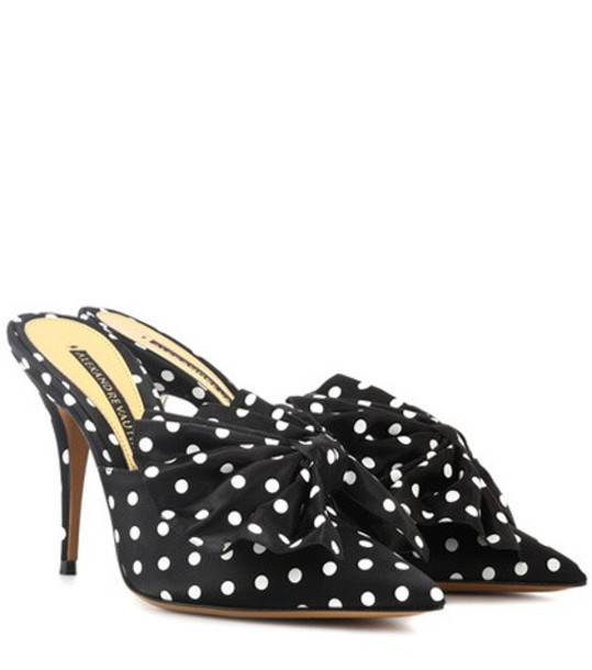Alexandre Vauthier Kate 100 polka-dotted mules in black
