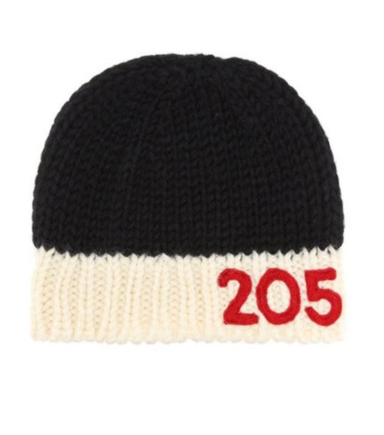 Calvin Klein 205W39NYC Knitted wool beanie in black