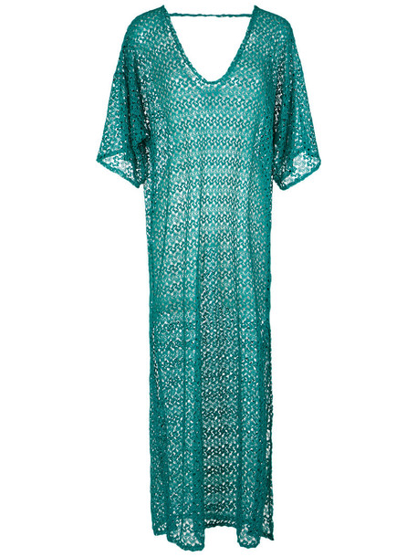 Brigitte maxi women lace blue top