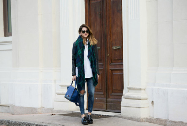 scent of obsession blogger jacket jeans scarf shoes bag