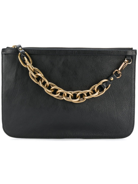 Pierre Hardy women clutch leather black bag