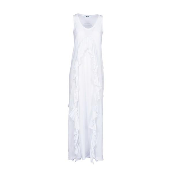 MSGM dress ruffle dress long ruffle white