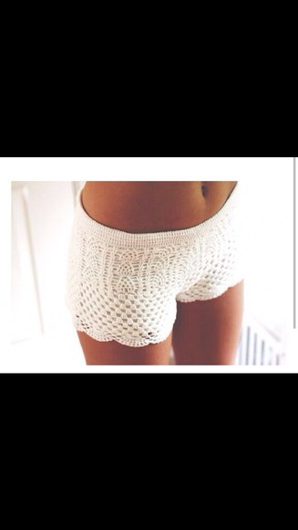 shorts crochet white summer lace crochet shorts cute shorts summer shorts