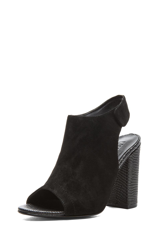 Kalla kid suede heels in black