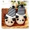 Womens winter warm slippers lovely panda fleecy stripe shoes house cartoon white   ebay