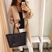 coat,beige,nude,winter outfits,fall outfits,winter coat,fall coat,long beige coat,waterfall coat,jacket,trendy,chic,sexy,stylish,effortless,long coat,light jacket,nude jacket,brown jacket,flowy,classic