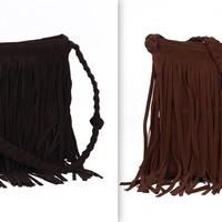 Plush black fringe shoulder bag · love, fashion struck ·