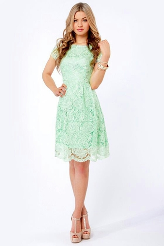 dress mint green dress