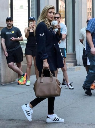 coat gigi hadid celebrity style shoes