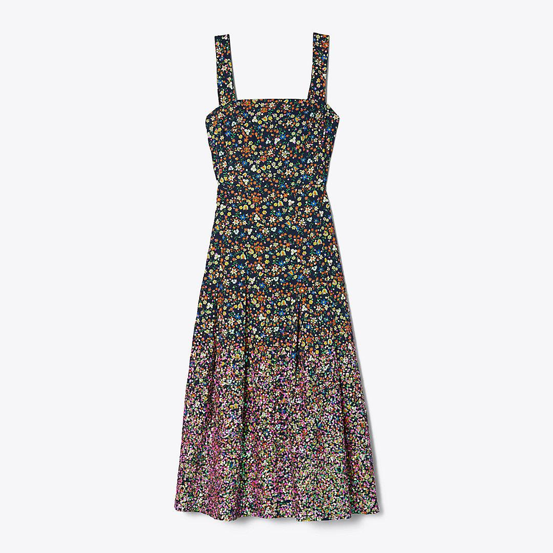 Sequin-Embroidered Cotton Dress