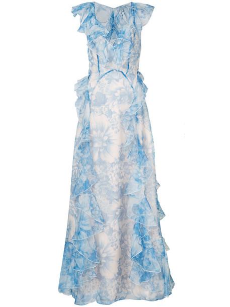 Alice McCall dress maxi dress maxi women blue silk