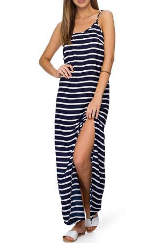 dress zaful black and white striped dress striped dress long striped dress sleeveless dress long dress