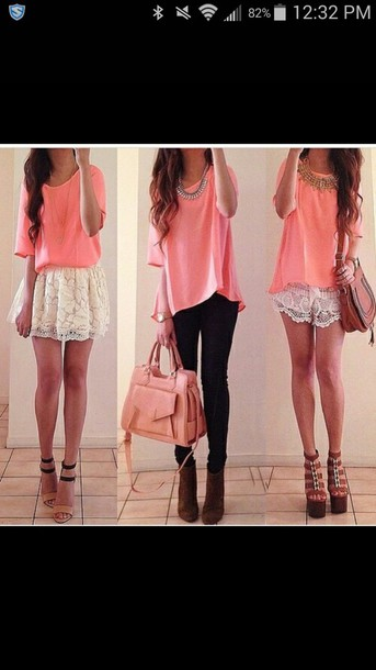 shirt pants skirt shorts shoes bag necklace